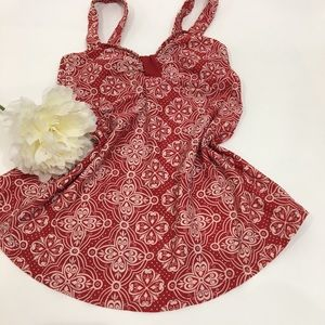 Vintage Red & white sleeveless top swimsuit